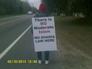 Protesting Islam on the Westside of JAX 02/10/2015
