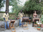 Le groupe Gunà Percussion