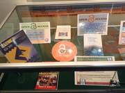 Open Access display cabinet at the library entrance