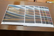 "Flyers distributed at the Faculty of Arts, promoting the Workshop ""University of Porto - Open Access to Information. Files, Libraries and Digital Repositories"""
