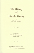 The History of Lincoln County by Alfred Nixon