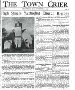 High Shoals Methodist History.