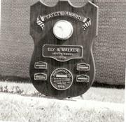 Carolinian Mills Receives Safety Plaque 1957