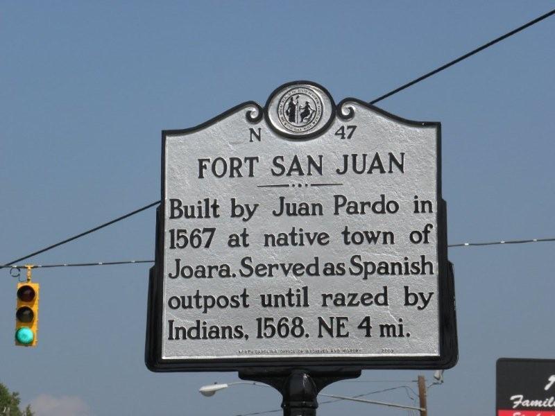 Fort San Juan sign