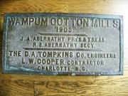 Wampum Mill cornerstone