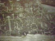 Petroglyphs, pictographs and mud glyphs