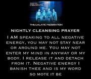NIGHTLY CLEANSING PRAYER