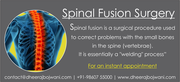 Choose the Best spine surgeons in India for Spinal Fusion Surgery or Laminectomy