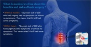 Herniated disc surgery benifits and risks
