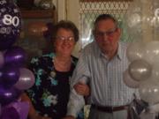 Diamond wedding and 80th birthday.