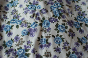 Blue & Violet Barkcloth
