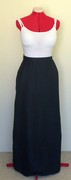 Navy Voile Maxi Skirt