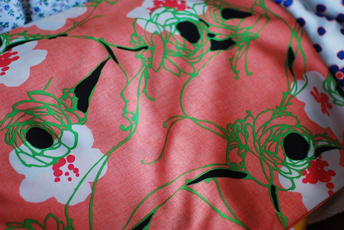Salmon Polyester Fabric