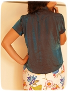 Blue blouse back