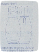 Red flowers dress line drawing