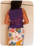 Purple wrap top back
