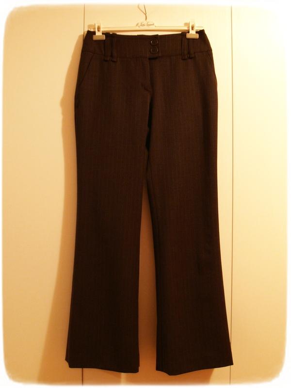 Brown striped pants