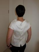silk top - back