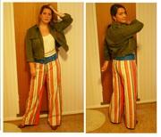 Just a few weeks late: Hippie pants, orange!