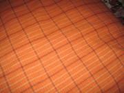 Orange Plaid Fabric
