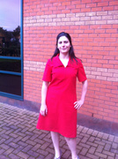 1970s red dress