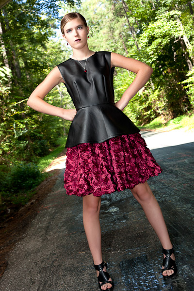 a bit of fangtasia peplum top and rosette skirt