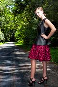 a bit of fangtasia peplum top and rosette skirt
