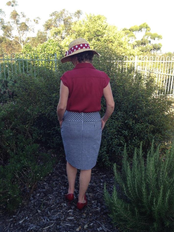 Checked Skirt