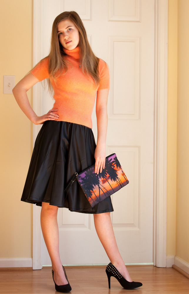Faux-Leather Circle skirt