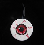 .Red Eyeball Halloween/Christmas Ornament