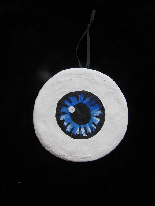 .Blue Eyeball Halloween/Christmas Ornament