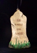 .Tall Faded Tombstone Ornament