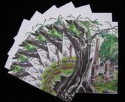 Tree Monster in the Cemetery 6pc Blank Note Card Set with EnvelopesFrom ARyerStudio