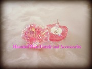 pink glitter under the sea mermaid earrings
