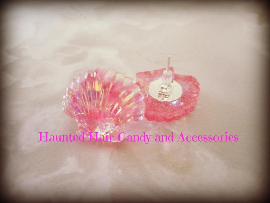pink glitter under the sea mermaid earrings