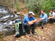 Joey, Will and Slapnuts break at bear creek