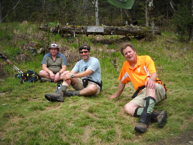 Rob, John and Myers at tricorner