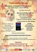 Marioara Vișan - Lansare de carte (afiș)