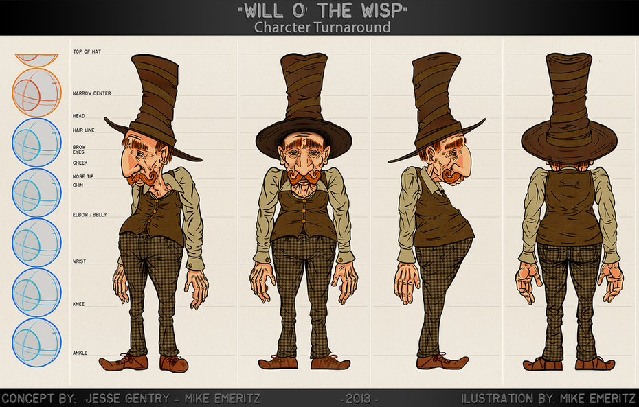 """""""Will"""" Character Concept + Turnaround"""