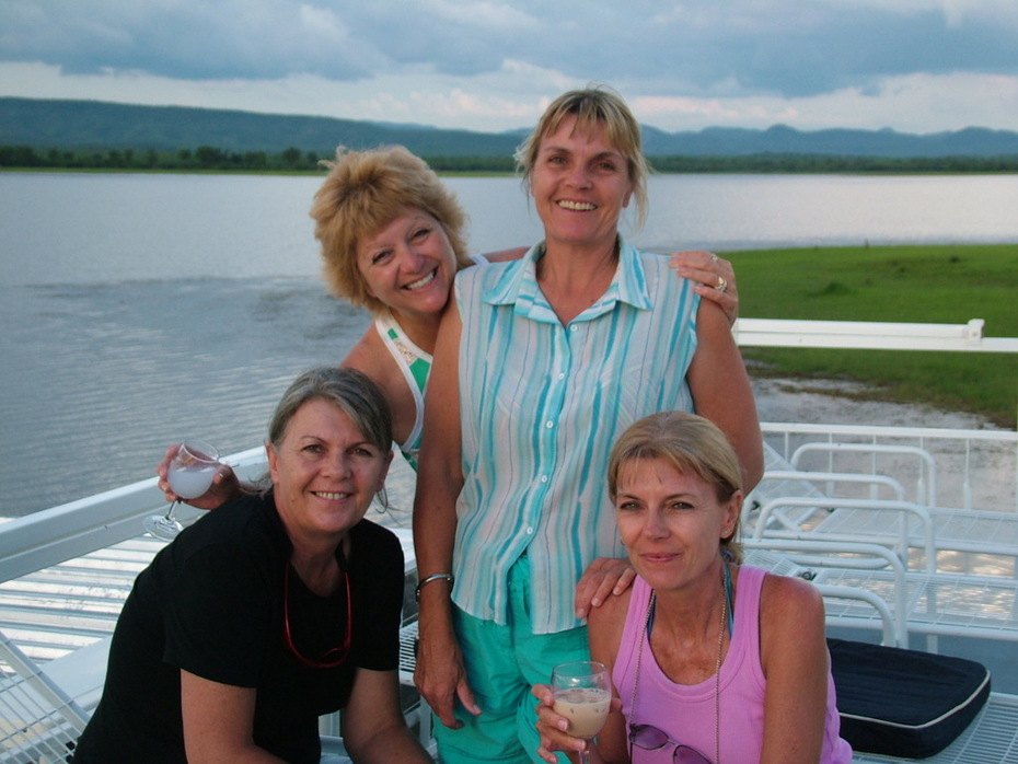 Kariba, Africa with my three sisters