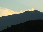 Mount Etna in the evening from anchorage at Taormina
