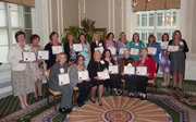 Rachel Madorsky with membersof IWPA -- recipientthe of the 2012 Mate E. Palmer Communications Contest Awards