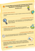 5 SIMPLE WAYS TO INCORPORATE COMMON CORE LITERACY STANDARDS IN SOCIAL STUDIES AND SCIENCE