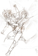 Zerox and Hime WIP