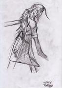 arg tjej i blyerts