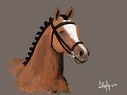 nya digitalmålade hästar