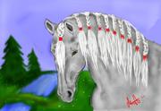 första häst ritplatta