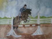 High horse jumping