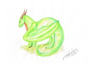 Grön av akvarell