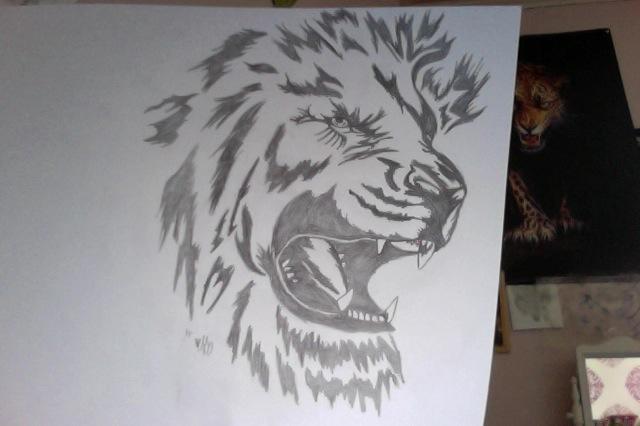 Lejon - tribal
